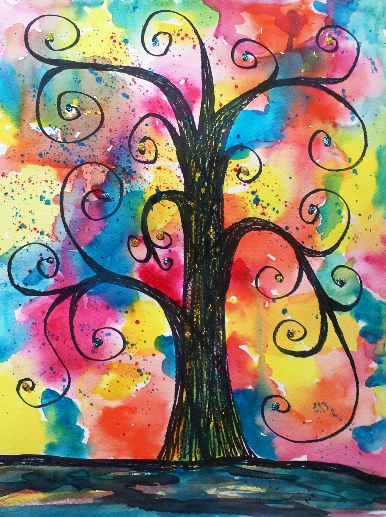 """""""Klimt Tree"""" — A Painting Project Party Choice"""