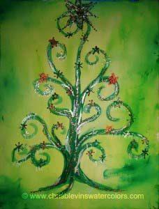 Christmas Klimt Tree